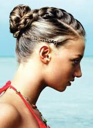 French Braids Hairstyles updo braid hairstyles